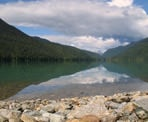 The view of Cheakamus Lake near Singing Pass Creek, Whistler, BC