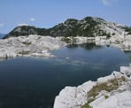 The lake at the top of Coliseum Mountain