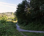 The lower section of the Coquitlam Crunch, near the gravel parking lot