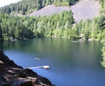The view of Loggers Lake in Whistler