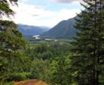 A view looking down the Squamish Valley on the Sigurd Trail