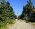 The start of the gravel road that goes from Grouse Mountain to the back country trails