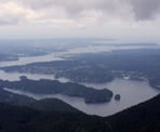 A viewpoint looking out towards Indian Arm, Deep Cove, Mount Seymour and Vnacouver from the Dilly Dally Loop