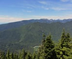 The view from Dog Mountain looking west towards the Grouse Mountain area