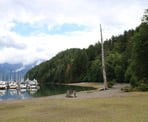 The beach area near Snug Cove on Bowen Island