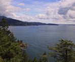 A view of of Dorman Point from the second viewpoint on Bowen Island