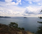 A view from Dorman Point on Bowen Island looking out to Howe Sound and Passage Island