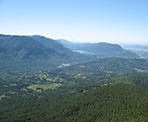 The view from Elk Mountain looking towards Cultus Lake in the distance