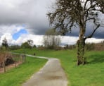 Walking along the scenic Fort to Fort Trail in Fort Langley