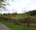 A view of the rolling hills along the Fort to Fort Trail in Fort Langley