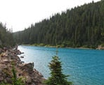 The edge of Garibaldi Lake leading towards Rubble Creek