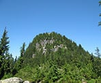A view of Goat Mountain in North Vancouver along the Ridge Trail