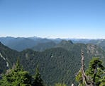 The view out towards the backcountry looking north towards Squamish from Goat Mountain