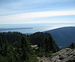 The view of Burrard Inlet and UBC from Goat Mountain