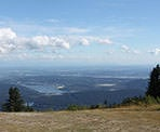 The view of the city from near the parking lot on Mount Seymour and the start of the trail to Goldie Lake