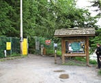 The start of the famous Grouse Grind trail begins once you pass through the fence