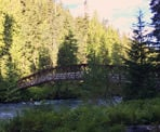The bridge across the Cheakamus River on the way to Helm Lake