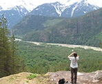 A view looking down into the Squamish River Valley