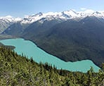 The view of Cheakamus Lake from the High Note Trail