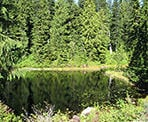 Fourth Lake on Cypress Mountain, one of many small lakes in the area