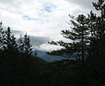 A view of the Squamish Valley from the trail to Levette Lake