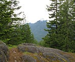 A rocky outcrop in the Evans Forest near Levette Lake