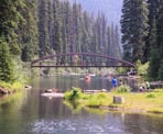 Rainbow Bridge along Lightning Lake in Manning Provincial Park