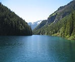 A view from the north end of Lindeman Lake in Chilliwack, BC