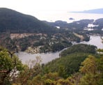 The first viewpoint on Mount Daniel looking across Pender Harbour