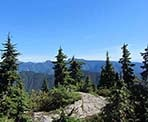 View of the back-country mountains from the top of Mount Fromme in North Vancouver