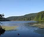 A view of Killarney Lake on Bowen Island, BC