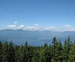 A view from the top of Mount Gardner on Bowen Island, BC