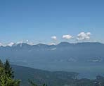 One of the scenic views from the top of Mount Gardner on Bowen Island, BC