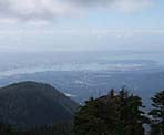 A view of Vancouver from the top of Mount Seymour in North Vancouver