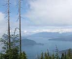 A view of Bowen Island and Howe Sound from the Bowen Lookout