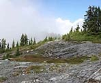 The south summit of Mount Strachan in West Vancouver, BC