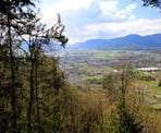 The view of Cultus Lake from the top of Mount Thom in Chilliwack