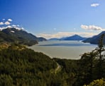 The incredible view of Howe Sound from the Quercus Viewpoint