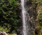 The view of Norvan Falls in the summer months