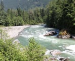 The Coquihalla River along the trail to Othello Tunnels