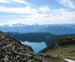 A view of Garibaldi Lake as you near the top of Panorama Ridge