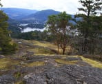 The view from the peak of Pender Hill on the Sunshine Coast