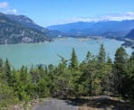 A view part way up the trail to Petgill Lake looking out towards Howe Sound and Squamish