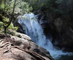 The Sea To Summit Trail passes by Upper Shannon Falls offering a few scenic views of the rushing water