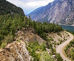 Enjoying the scenic view at the Seton Lake Lookout
