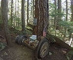 A jet engine and memorial site for the F-86 Sabre that crashed on Grouse Mountain in 1954