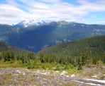 A view of the backcountry from the Skyline North Trail of the Soo Range and Ipsoot Mountain