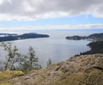 The highest viewpoint on Soames Hill near Gibsons, BC
