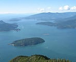 The view of Howe Sound from St. Mark's Summit