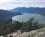 A view of Howe Sound from the top of The Chief